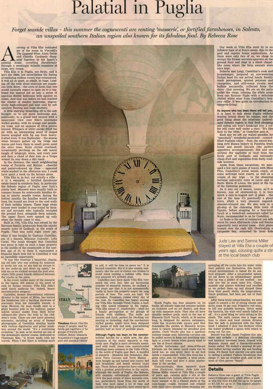 Villa Elia in the Financial Times, 31 March 2012 | Think Sicily