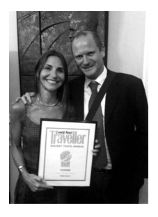 Huw and Rossella at the Condé Nast Traveller Readers Awards, September 2011 | Think Sicily