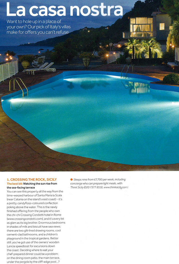 Crossing the Rock in The Sunday Times Travel Magazine, May 2011 | Think Sicily