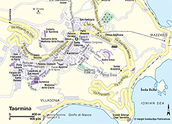 Map of Taormina | Sicily