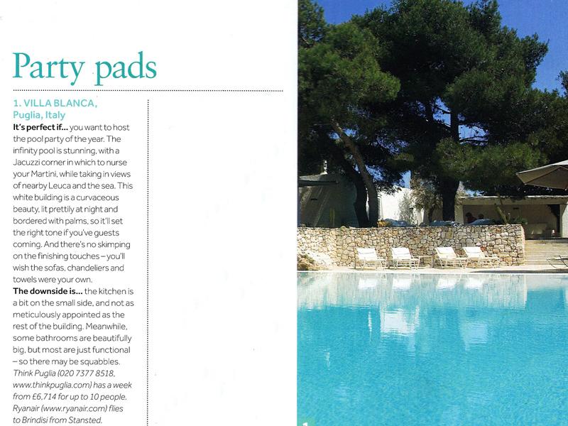 Villa Blanca in The Sunday Times Travel Magazine,