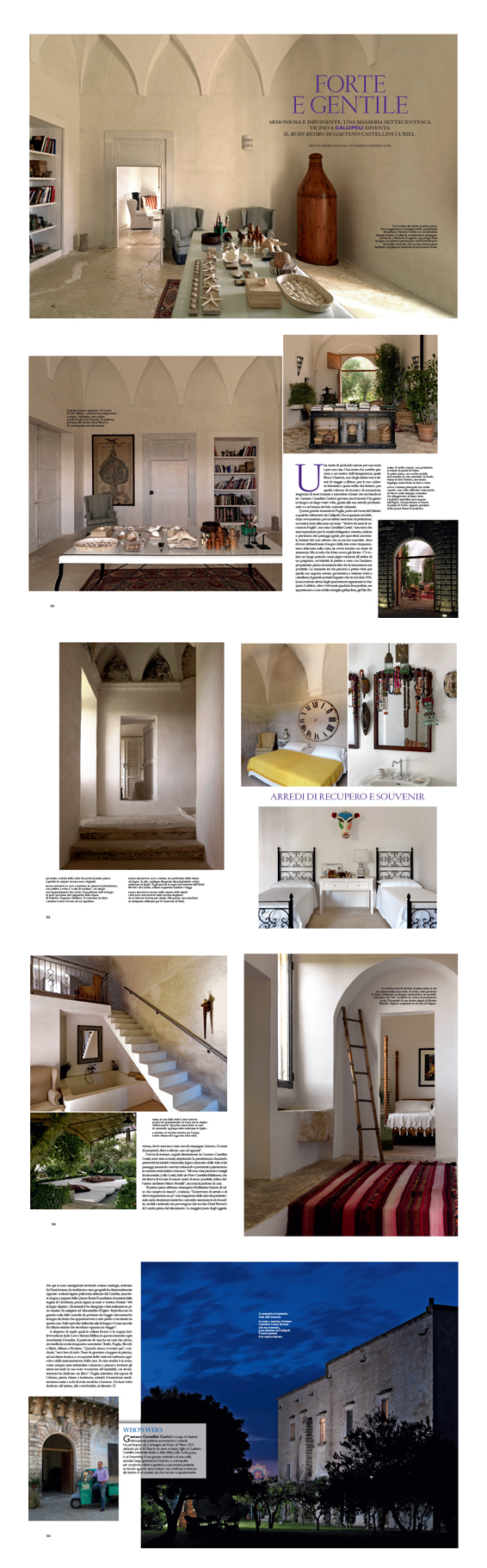Villa Elia featured in the July 2011 edition of Architectural Digest   Think Puglia