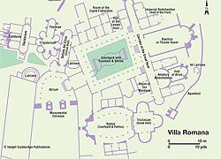 Map of Villa Romana del Casale | Sicily