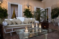 The main terrace is stylishly furnished.
