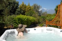 56/66 Enjoying the stunning sight of Mount Etna from the Jacuzzi.