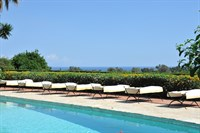 View on the pool and the Ionian sea.