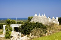A shot of the Trulli and shaded terrace.