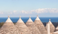 The lovely restored roofs of the seven trulli!