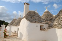 The rear of the trulli, with the kitchen in the foreground.