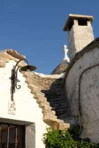 A close-up of one of Alberobello's hundreds of trulli.