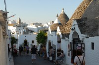 One of the lovely streets of Alberobello.