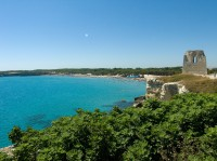 The beach and coastline of Torre dell'Orso, between Lecce and Otranto.