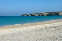 The white sandy beach and azure Adriatic Sea at Torre dell'Orso.