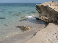 A detail of the beach at Torre Specchia on Salento's Adriatic coast.