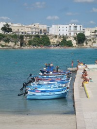 Looking from one beach to another in Otranto.