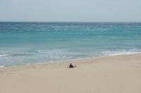 The fantastic sandy beach of Marina di Salve in south-west Puglia.