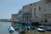The quiet fishing harbour of Monopoli.