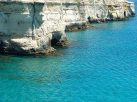 The impressive cliffs of south-eastern Puglia.