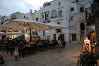 The lovely square of nearby Cisternino in the summer.