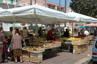 The market in Monopoli provides locals with fresh ingredients.