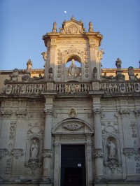 The beautiful facade of the Duomo in Lecce.