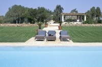 Looking back towards the Masseria from the pool.