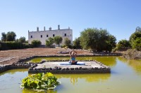 59/88 The pampelmousse pond at Masseria Lamacoppa is a great spot for yoga lovers.