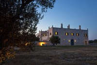 8/88 An evening shot of Masseria Lamacoppa.