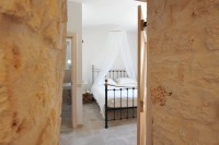 Another angle of the double bedroom in Trullo Bianco.