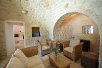 The living room in Trullo Pietra.