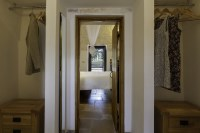 View from the corridor of the double bedroom in Trullo Pietra.