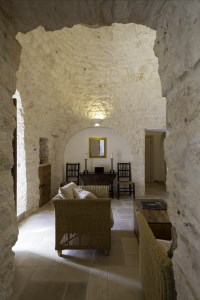 The living room in Trullo Bianco.