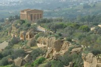 The Valley of the Temples in Agrigento is a UNESCO World Heritage Site.