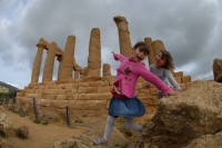 Having fun amongst the ruins of the Valley of the Temples!
