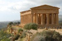 The Temple of Concordia is the best preserved temple at Agrigento.