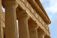 The captial, architrave and frieze of the Temple of Concordia in Agrigento.