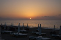 A beautiful sunset from Lascari beach near Cefalù.