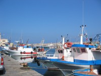 Porticello has a busy fishing fleet and some excellent fish restaurants.