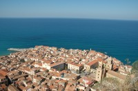 Cefalù seen from La Rocca high above.