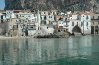 Cefalù seen from the water.
