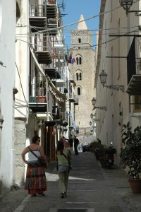 All roads lead to the Duomo in Cefalù.