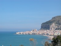 29/29 The beach, town and Duomo of Cefalù.