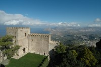 Views from the Pepoli Castle in Erice.