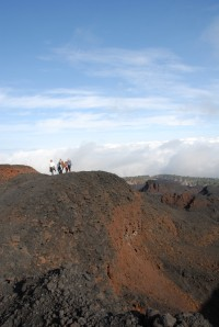 The dramatic landscapes on Mount Etna...