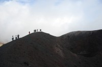 One of the craters of Mount Etna's 2002 eruptions.