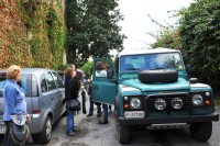 Ready to depart on our 4x4 trip up Mt Etna.