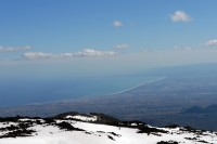Another shot of the fantastic views from Mount Etna.
