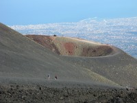 A fabulous view of Catania from the heights of Mount Etna.