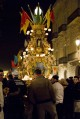 4/12 One of the huge candles on the first night of the Festa.