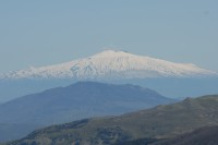 A magnificent view of Mount Etna seen from the Madonie Mountains.